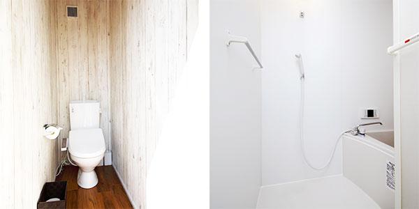 個別のトイレ・お風呂